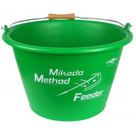 Wiadro, mikado, methodfeeder, green, zanęta, mieszanie zanęty,