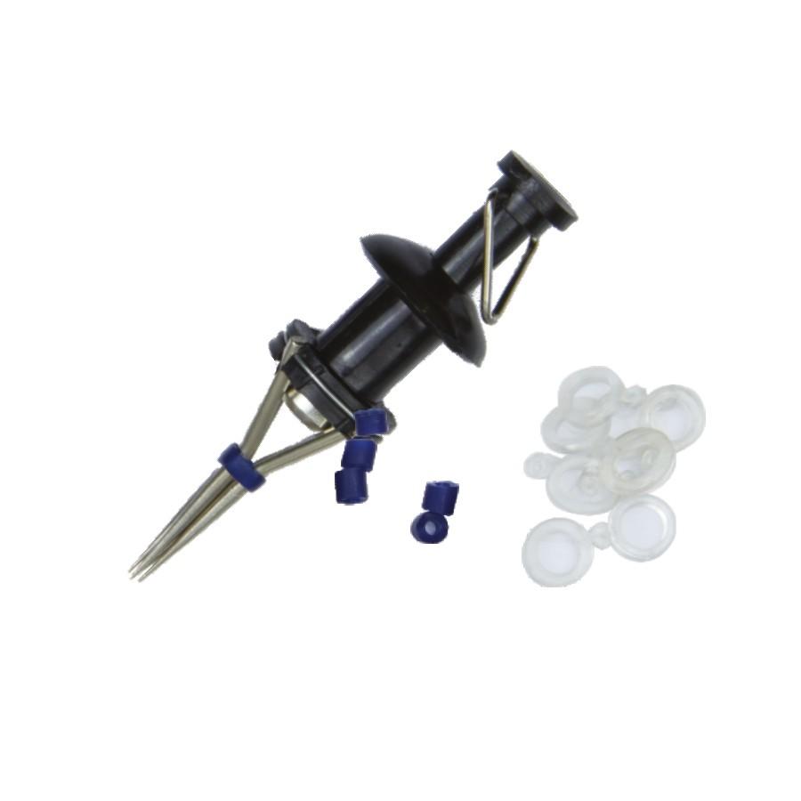 szczypce do pelletu, zapasowe silikonowe gumki, szybki montaż
