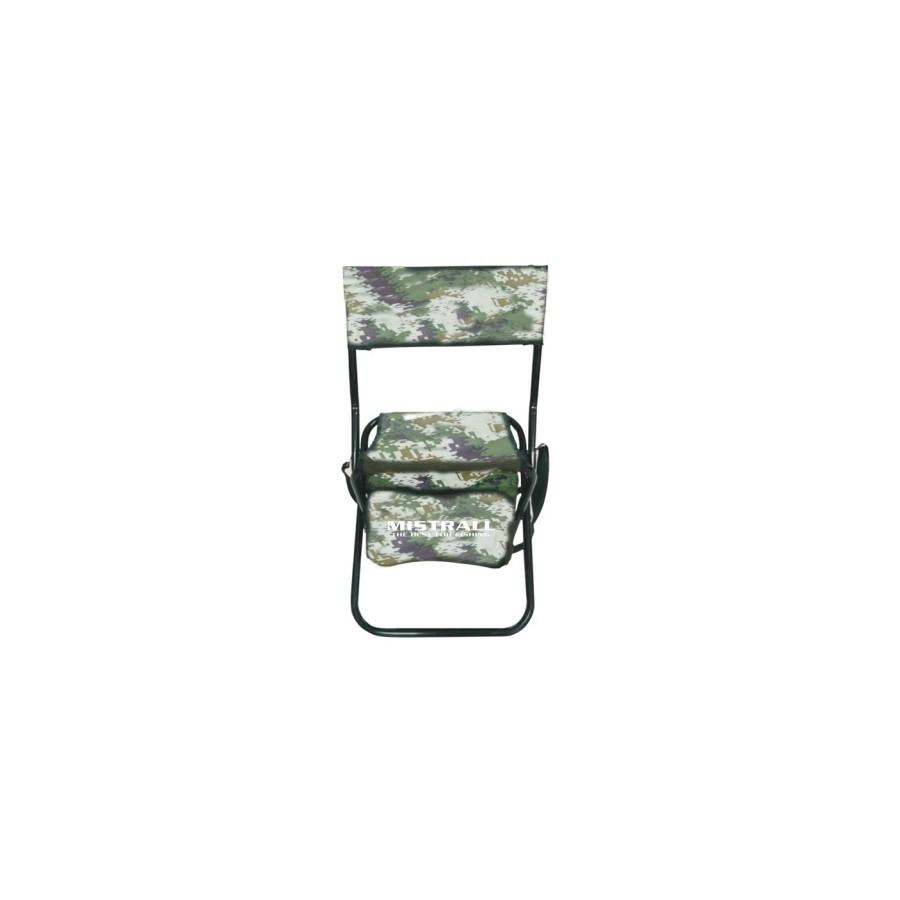krzesło z oparciem, plecakiem moro