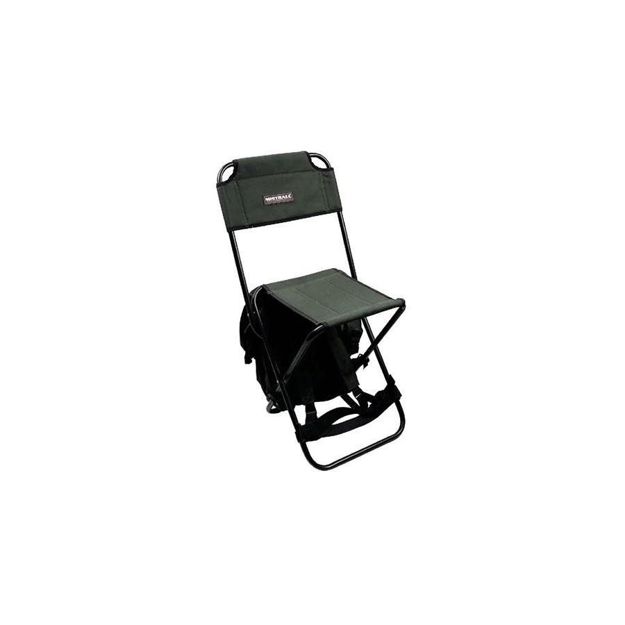 krzesło z oparciem i plecakiem