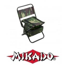 krzesło z oparciem i plecakiem  moro