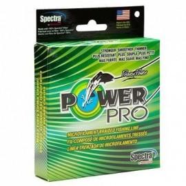 power pro, plecionka moss green,   ciemno zielona  135m