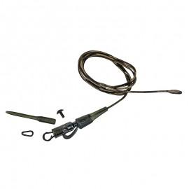 Gotowy Zestaw Klips Bezpieczeństwa z Lead CorePROLOGIC - Safetly Clip QC Swivel Hollow Leader 80cm 45lbs 3pcs